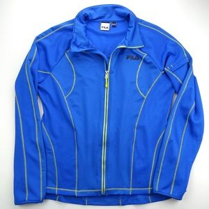Fila Sport Performance Mesh Running Jacket Blue